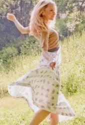 organic cotton forest faery dress